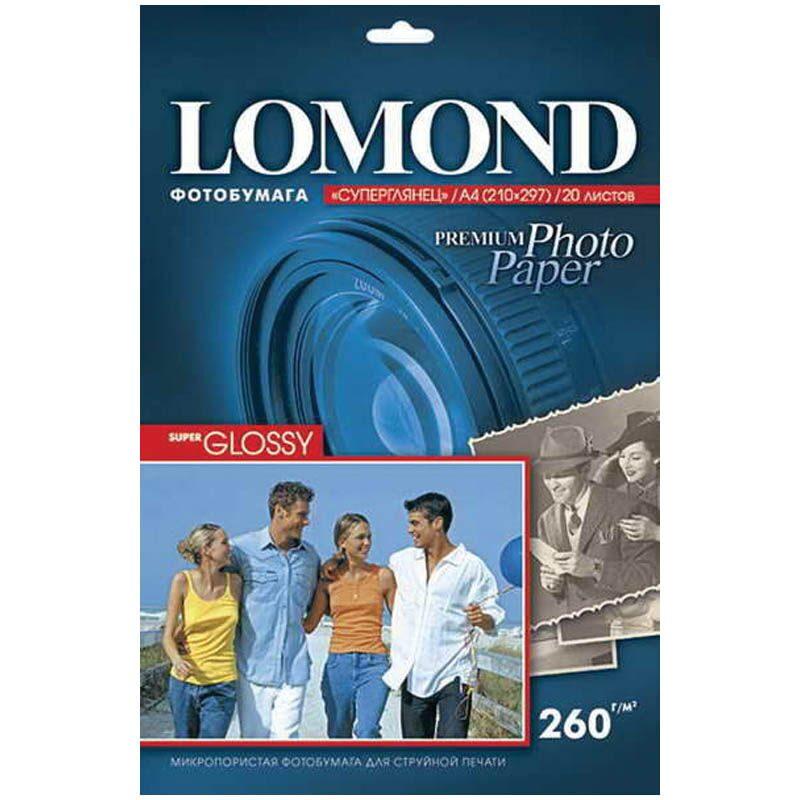Фотобумага Lomond 1103101 А4/260г/м2/20 л высокоглянцевая для струйной печати